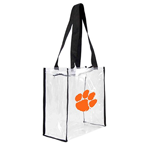 ncaa-clemson-tigers-square-stadium-tote-115-x-55-x-115-inch-clear-by-littlearth