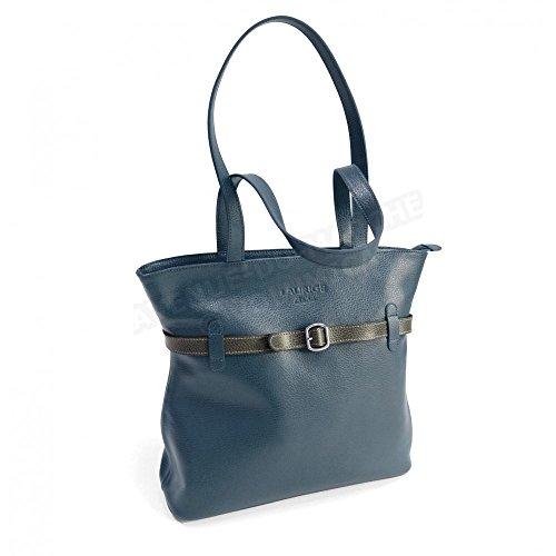 Sac épaule Amelie cuir Fabrication Luxe Française Bleu