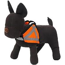 HBR Arnés reflectante ajustable para perro, chaleco de seguridad para mascotas, alta visibilidad en la noche, naranja