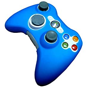 TEEPEE ONLINE® DARK ELECTRIC BLUE ** UK EXCLUSIVE COLOUR** SILICONE SKIN CASE COVER for XBOX 360 CONTROLLER