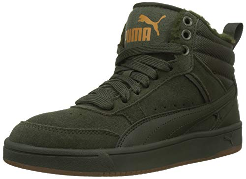 PUMA Unisex-Erwachsene Rebound Street V2 SD FUR Hohe Sneaker, Grün (Forest Night-Forest Night-Buckthorn Brown 02), 46 EU
