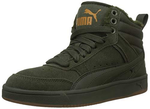 Puma Unisex-Erwachsene Rebound Street V2 SD FUR Hohe Sneaker, Grün Forest Night-Buckthorn Brown 02, 44 EU (Puma Mode Schuhe Männer)