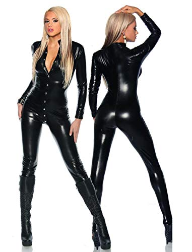 Life Girl Entrambi Front Back Aprire Il Petto Pantaloni in Pelle Siamese Sexy Abbigliamento Moto Bar Costumi Catsuit