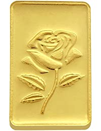 TBZ - The Original 1 gm, 24k(999) Yellow Gold Rose Precious Coin