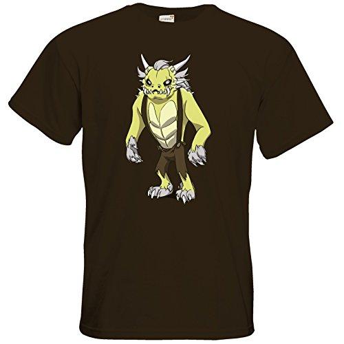 getshirts - Daedalic Official Merchandise - T-Shirt - Deponia Doomsday - Fewlock Chocolate