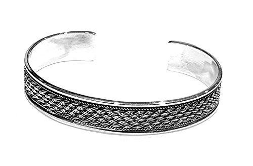 treasurebay massiv 925Sterling Silber Armreif Armband tbc962