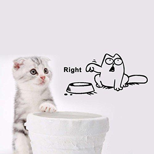 kingkor-new-cute-left-right-funny-cat-food-pattern-livingroom-door-decor-wall-sticker-decal-bedroom-