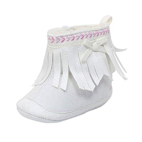 Ouneed® 0-18 mois Bebe Boots Frange 11- 13 (11, Gris) Blanc