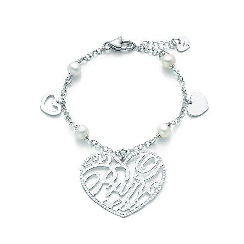Miluna - Bracciale Argento, Diamanti, Perle, cod. PBR1349