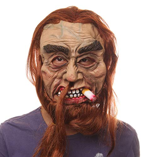 Beängstigend Und Kostüm Sexy - Coedfa Halloween-Kostüm, Party-Dekorationen, Halloween-Requisiten, Halloween-Zubehör Halloween Cosplay Maske Heavy Smoker gruselig für Halloween Karneval Party Spukhaus Dekoration Siehe Abbildung