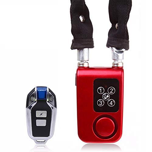 Elektronische Diebstahlsicherung Drahtlose Fernbedienung Alarmschloss Elektrische Fahrrad Motorrad Passwort Stahlkabel Stahlkette - Passwort-organizer Elektronische