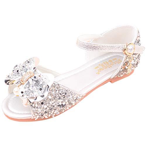 tzer Sandalen Mary Jane Wohnungen Prinzessin Hochzeit Blumenmädchen Schuhe ()