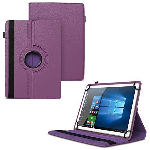 UC-Express NAUCI Odys Cosmo Win X9 Odys Winpad X9 Tablet Universal Schutzhülle aus Kunstleder Hülle Tasche Standfunktion 360° Drehbar Cover Case, Farben:Lila