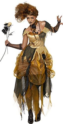 Smiffys, Damen Bitchy Belles Kostüm, Kleid und Halsband, Größe: S, (Belle Erwachsenen Kostüme Halloween)