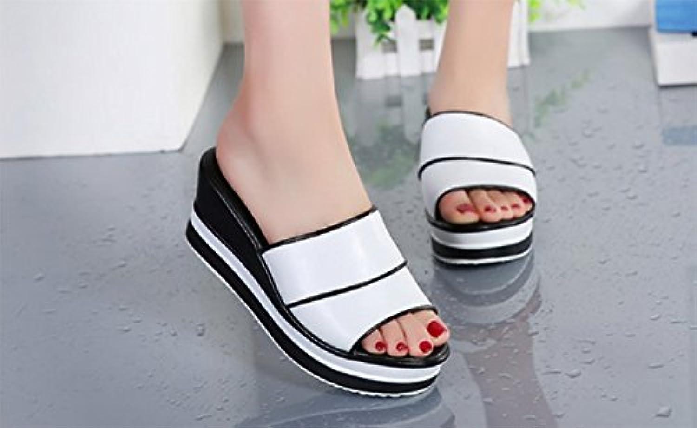 790df1e922adc3 AWXJX women s flip flops summer High heel Outer Outer Outer wear Slope  Thick bottom Non-slip flat Casual B07CR9KJLK Parent df2089