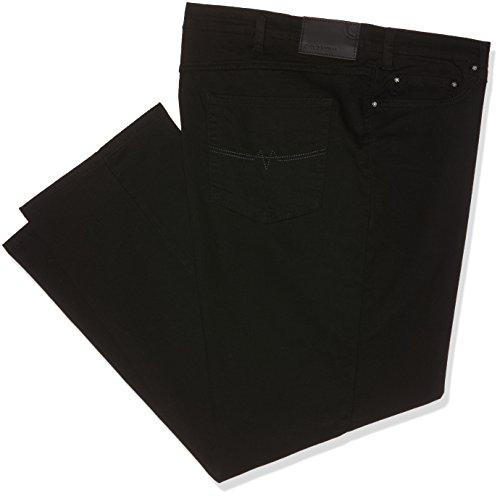 Oklahoma Jeans Herren Straight Jeans R144, Schwarz (Black Black 003), W48/L30 (Weites Jeans Größe Plus Bein)