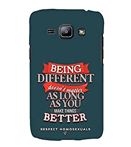 FUSON Being Different Make Better 3D Hard Polycarbonate Designer Back Case Cover for Samsung Galaxy J2 J200G (2015) :: Samsung Galaxy J2 Duos (2015) :: Samsung Galaxy J2 J200F J200Y J200H J200Gu