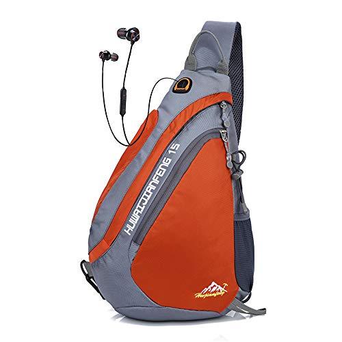 Sling Rucksack Sport | Sling Bag Dreieck | Outdoor Brusttasche Crossbag | Schulterrucksack für Damen und Herren | Sling Tasche Crossbody Rucksack für Camping Gym Reisen Wandern -