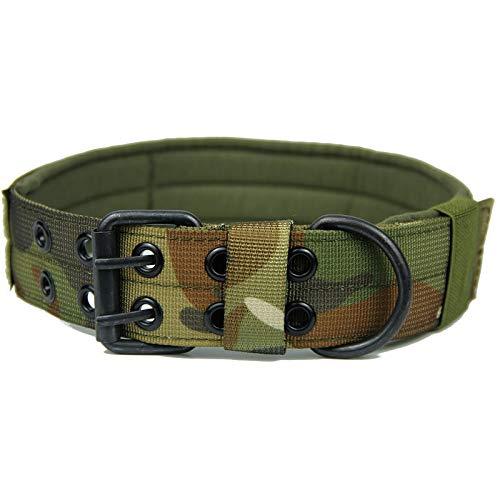 NO LOGO XBF-LIeq, Hundehalsband Verstellbare HalsketteChoker große Hunde Traction Bedarf Outdoor Military Tactical Jagd-Hund Canine Hound Ausrüstung (Farbe : Camo 2, Größe : XL) -