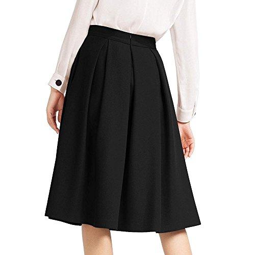 OHQ Vestidos Mujer Falda De Talle Alto Falda Acampanada