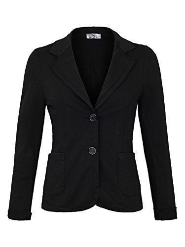 DANAEST Damen Blazer Vintage Style (611), Farbe:Schwarz, Blazer 1:44 / XXL