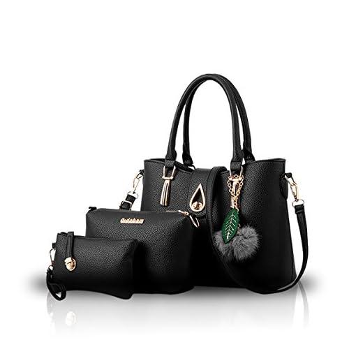 NICOLE&DORIS Fashion 3 PCS Bag Handbag Shoulder Women Bag Crossbody Totes Messenger Soft PU Leather