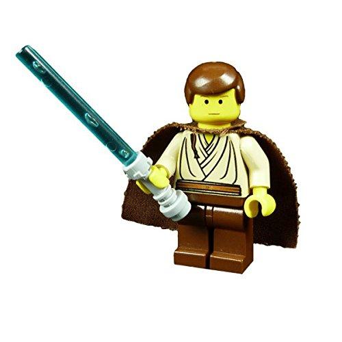 Lego Star Wars Obi Wan Kenobi braune Haare Lichtschwert blau Padawan Schüler Jedi 7203 F69
