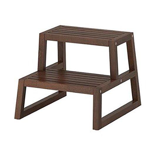 Stufenhocker, Massivholz europäischen einfachen Holz Farbe und braun, Mehrzweck-Dual-Use...