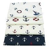 40cm * 50cm Marine Stil Baumwolle Stoff für Patchwork