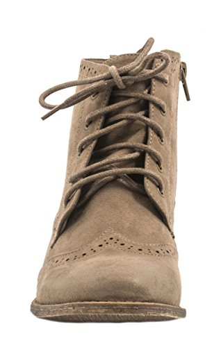 Elara Cowboy Boots | Damen Western Stiefelette | Blockabsatz Schnürer Khaki