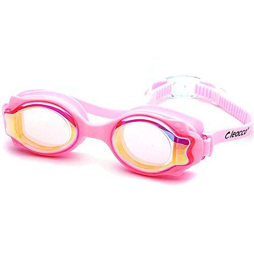 TNIEG Kinderschutzbrillen Hd Durable Waterproof Anti-Fog Tauchen/Schwimmen/Racing/Hot Spring/Kinder Training Schwimmen Verstellbarer Spiegel Mit Schutzbrille, C