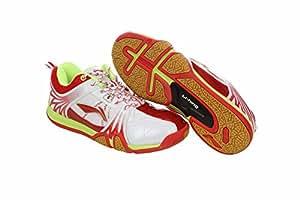 Li-Ning Titan Hybrid Badminton Shoes, UK 11 (White/Red)