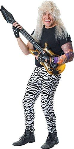 Punk Rock Rave Anlässe 1980er Jahre Verkleidung Kostümparty Herren Zebra Druck Hosen Outfit