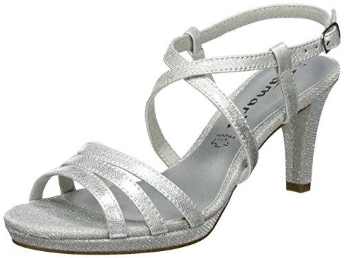 Tamaris Damen 28399 Offene Sandalen , Silber (Silver 941), 39 EU