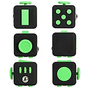 Fidget Cube Toy Anxiety Stress Relief Calming Toy for Focus, Relaxation, Distraction & Improved Mood - Aids Depression, Worry Fear Perfect Gift for Autism, Anger, ADD, ADHD from feifanshop