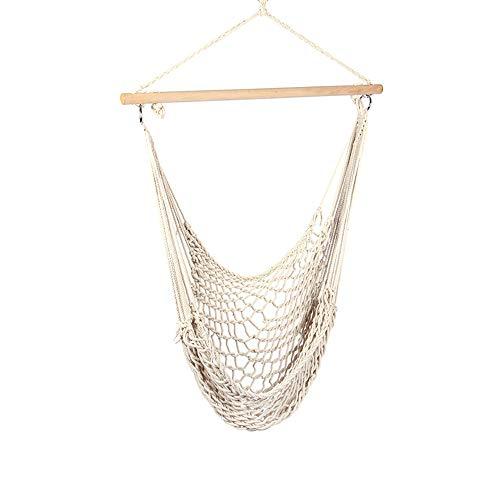 ZJY 2Pcs Net Rope Hängesessel - Swing - Verstärkte Cotton Rope Stick Cotton Sling Geeignet für Außenterrasse Deck Patio Garten Balkon - Sling Patio Möbel