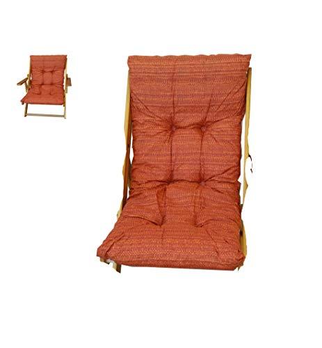 Maslegno 380878 Coussin rembourré de rechange pour fauteuil et chaise longue
