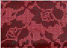 """Portafoglio 2793""""mosca con motivo floreale-Cerniera sulla Zipper in 4colori ca 9,4x13,3cm, lilla nero"""