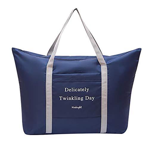 Calvinbi Damen Herren Gefaltet Gepäcktasche Reisetasche Handgepäck Gefaltet Verdicken Leichte Wasserdicht Luggage Aufbewahrungstasche