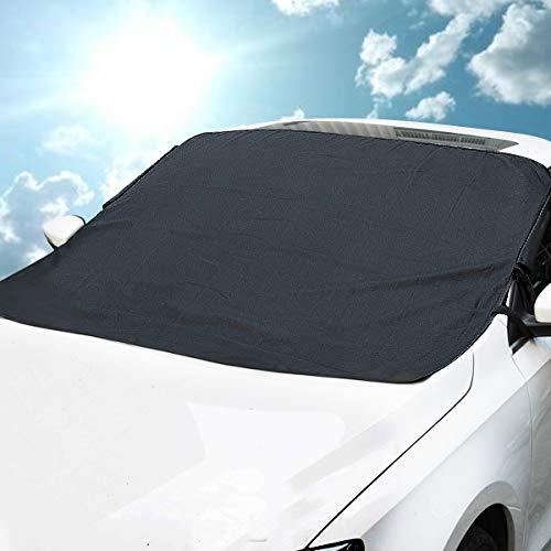 Frontscheibenabdeckung Auto MATCC Magnetische Autoscheibenabdeckung Plane Abdeckung für Frontscheibe Sonnenschutz Schneeschutz Windschutz Frostschutz Eisschutz Abdeckung Keine Kratzer mit integrierten