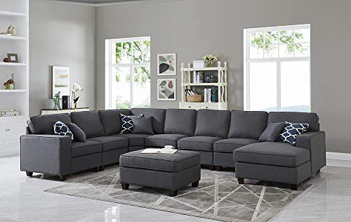 Oadeer Home D6014-4-Dunkelgrau, 8 Stück - Modulare Sectionals