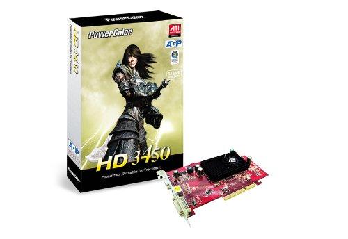PowerColor Radeon HD 3450 512MB GDDR2 - Grafikkarten (GDDR2, 64 Bit, 800 MHz, 2560 x 1600 Pixel, AGP 8X) - Ati Radeon Hd 3450