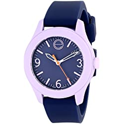 ESQ by Movado Women's 36mm Blue Silicone Band Steel Case Swiss Quartz Analog Watch 07101452