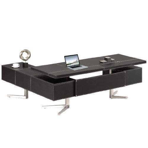 Chef Schreibtisch Büromöbel Leder Schreibtisch Bari rechts (Chef Büromöbel)