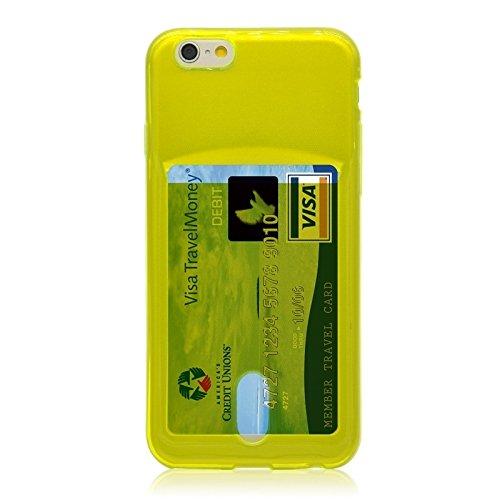 Wkae Case & Cover les cas de fente pour carte tpur ultraminces pour iphone 6 plus &6s et ( Color : Grey ) Green
