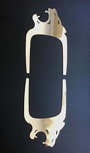"""Preisvergleich Produktbild 2x Türverkleidungs-Dekorationen """"Lion"""" aus poliertem Edelstahl für Lkw der Marke MAN TGA,  TGL,  TGS und TGX"""