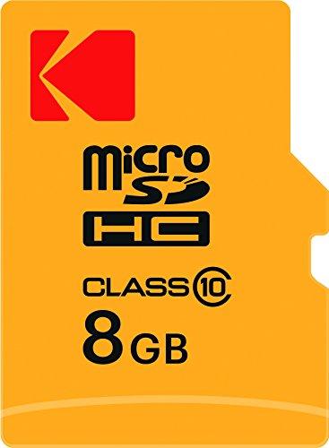Kodak 8GB microSDHC Speicherkarte mit SD-Adapter Class 10, microSDXC kompatibel