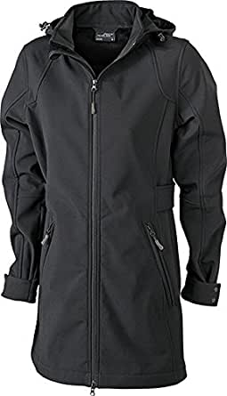 Ladies' Softshell Coat S,Black-Black