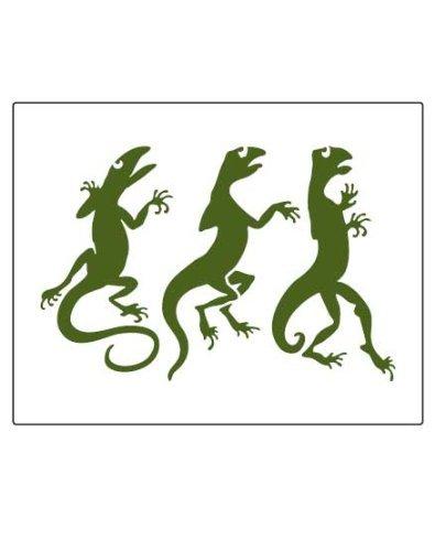Faux Like a Pro Lizard Stencil, 5.5 by 7-Inch, Single Overlay by Faux Like a Pro -