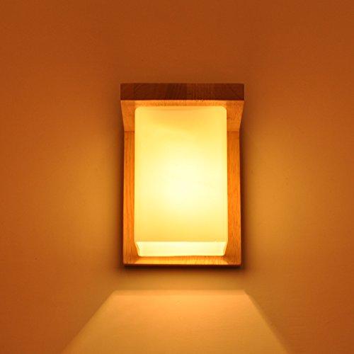 Petrichore 27W LED Wandleuchte, moderne verstellbare Licht Schlafzimmer Wandleuchte, holz wasserdichte Wand Lampe, 18 * 14CM, geeignet für Studienraum, Schlafzimmer, Eingangshalle, Korridor Licht